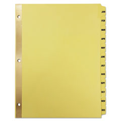 UNV 20814 Universal Deluxe Preprinted Plastic Coated Tab Dividers with Black Printing UNV20814