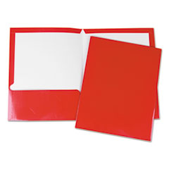 UNV 56420 Universal Laminated Two-Pocket Folder UNV56420