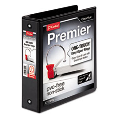 CRD 11121 Cardinal Premier Easy Open ClearVue Locking Round Ring Binder CRD11121
