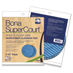 BNA AX0003498 Bona SuperCourt Athletic Floor Care Microfiber Cleaning Pads BNAAX0003498