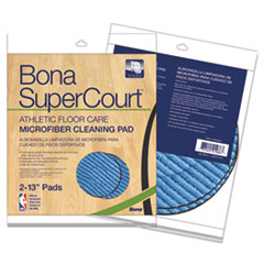 BNA AX0003501 Bona SuperCourt Athletic Floor Care Microfiber Cleaning Pads BNAAX0003501