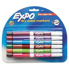 Low Odor Dry Erase Marker, Fine Point, Assorted, 12/Set