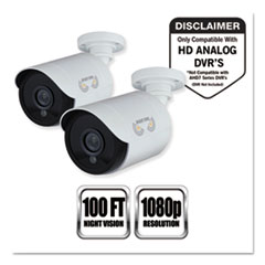 NGT CAM2PKHDA10W Night Owl Add-On HD Wired Security Bullet Cameras NGTCAM2PKHDA10W