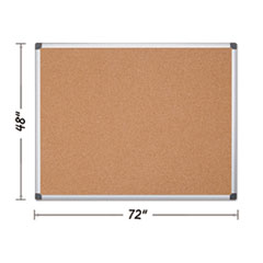 BVC CA271170 MasterVision Value Cork Bulletin Board with Aluminum Frame BVCCA271170