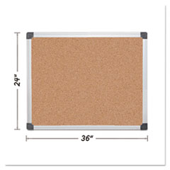 BVC CA031170 MasterVision Value Cork Bulletin Board with Aluminum Frame BVCCA031170
