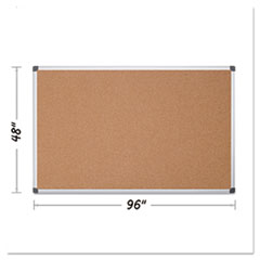 BVC CA211170 MasterVision Value Cork Bulletin Board with Aluminum Frame BVCCA211170