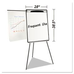 BVC EA23062119 MasterVision Magnetic Gold Ultra Dry Erase Tripod Presentation Easel with Extension Arms BVCEA23062119