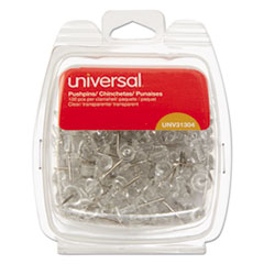 UNV 31304 Universal Clear Push Pins UNV31304
