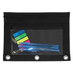 AVT 94036 Advantus Binder Pencil Pouch with Two Clear Pockets AVT94036