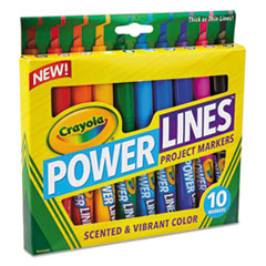 CYO 588194 Crayola Powerlines Washable Project Markers with Scents CYO588194