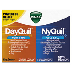 PGC 01452BX Vicks DayQuil/NyQuil Cold & Flu LiquiCaps Combo Pack PGC01452BX