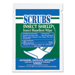 ITW 91401 SCRUBS Insect Shield Insect Repellent Wipes ITW91401