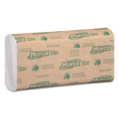 MRC P100B Marcal PRO 100% Recycled Folded Paper Towels MRCP100B