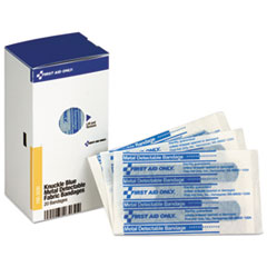 FAO FAE3030 First Aid Only SmartCompliance Blue Metal Detectable Bandages FAOFAE3030