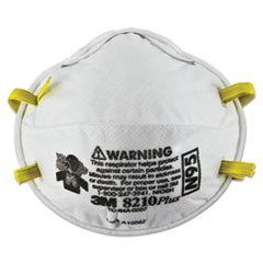 MMM 8210PLUS 3M Particulate Respirator 8210, N95 MMM8210PLUS