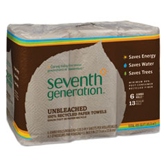 SEV 13737PK Seventh Generation Natural Unbleached 100% Recycled Paper Towels SEV13737PK