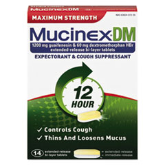 RAC 07214 Mucinex DM Maximum Strength Expectorant and Cough Suppressant RAC07214