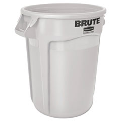 RCP 2610WHI Rubbermaid Commercial Vented Round Brute Container RCP2610WHI