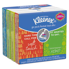 KCC 46651 Kleenex Go Pack Pocket Pack Facial Tissue KCC46651