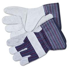 CRW 12010XL MCR Safety Men's Split Leather Palm Gloves CRW12010XL