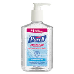 Advanced Instant Hand Sanitizer, 8oz Pump Bottle