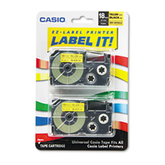 CSO XR18YW2S Casio Tape Cassette for KL Label Makers CSOXR18YW2S