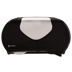 SJM R4070BKSS San Jamar Twin Jumbo Bath Tissue Dispenser SJMR4070BKSS