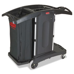 RCP 9T76 Rubbermaid Commercial Compact Folding Housekeeping Cart RCP9T76