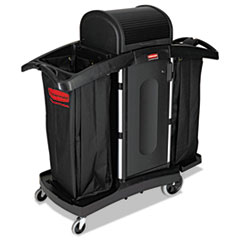 RCP 9T78 Rubbermaid Commercial High-Security Housekeeping Cart RCP9T78