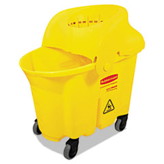 RCP 759088YEL Rubbermaid Commercial WaveBrake Institutional Bucket/Strainer Combo RCP759088YEL