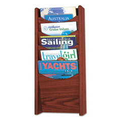 SAF 4330MH Safco Mayline Solid Wood Wall-Mount Literature Display Rack SAF4330MH