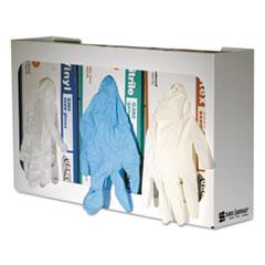 SJM G0804 San Jamar White Enamel Disposable Glove Dispenser, Three-Box SJMG0804