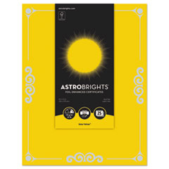WAU 91096 Astrobrights Foil Enhanced Certificates WAU91096