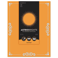 WAU 91098 Astrobrights Foil Enhanced Certificates WAU91098