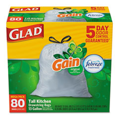 CLO 78900BX Glad OdorShield Tall Kitchen Drawstring Bags CLO78900BX