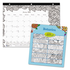 RED C2917211 Blueline Monthly Desk Pad Calendar with Coloring Pages REDC2917211
