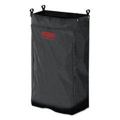 RCP 6187BLA Rubbermaid  Commercial Heavy-Duty Fabric Cleaning Cart Bag RCP6187BLA