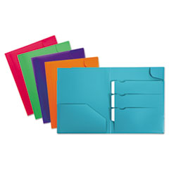 OXF 99837 Oxford Divide It Up Four-Pocket Poly Folder OXF99837