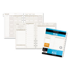 DRN 491225 AT-A-GLANCE Day Runner Two-Pages-Per-Day Planning Pages Refill DRN491225