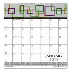 HOD 3491 House of Doolittle 100% Recycled Geometric Wall Calendar HOD3491