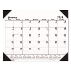 HOD 124 House of Doolittle 100% Recycled One-Color Dated Monthly Desk Pad Calendar HOD124