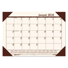 HOD 124641 House of Doolittle EcoTones 100% Recycled Monthly Desk Pad Calendar HOD124641