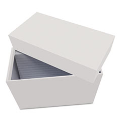 UNV 47280 Universal Index Card Box with Ruled Index Cards UNV47280