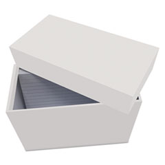 UNV 47281 Universal Index Card Box with Ruled Index Cards UNV47281