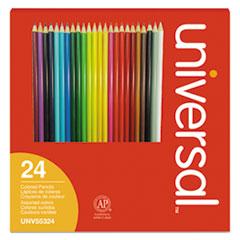 UNV 55324 Universal Woodcase Colored Pencils UNV55324