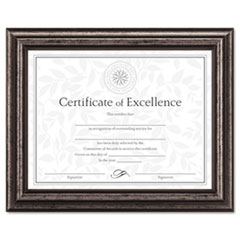 DAX N15790NT DAX Antique Brushed Charcoal Wood Document Frame DAXN15790NT