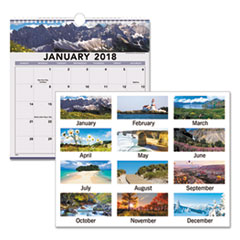AAG 88200 AT-A-GLANCE Landscape Monthly Wall Calendar AAG88200