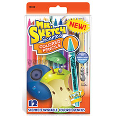 SAN 1951336 Mr. Sketch Scented Twistable Colored Pencils SAN1951336