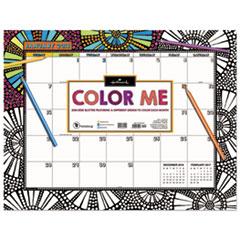 TFB 8018 TF Publishing 2018 Color Me Desk Blotter TFB8018