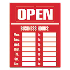 COS 098072 COSCO Business Hours Sign Kit COS098072